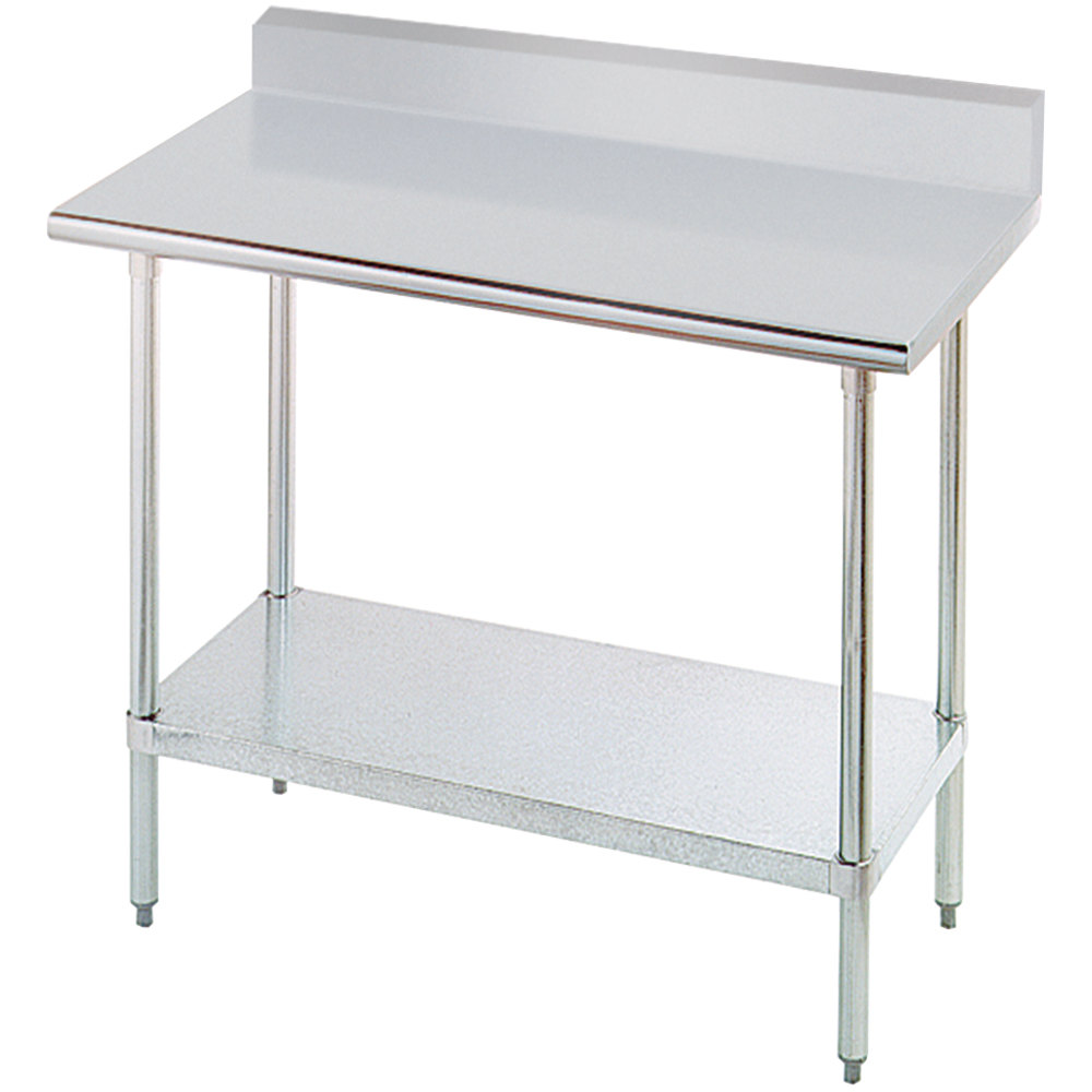 advance tabco kmslag 364 x stainless steel work table with