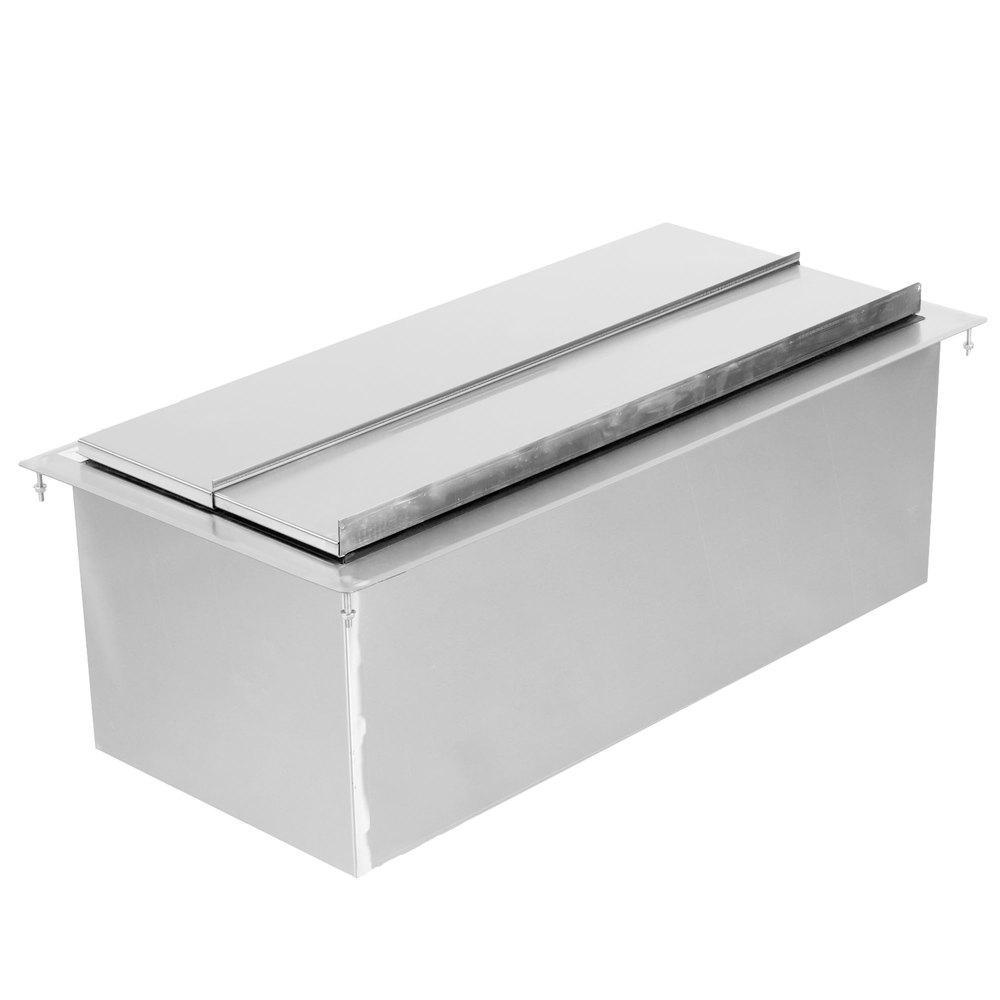Regency 18 inch x 36 inch Stainless Steel Drop-In Ice Bin