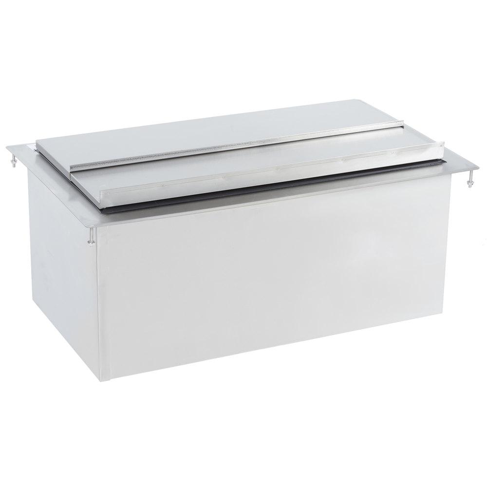 Regency 18 inch x 30 inch Stainless Steel Drop-In Ice Bin