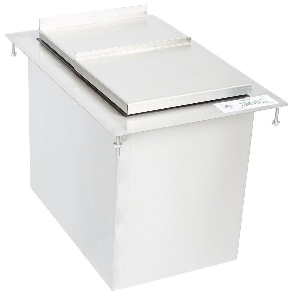 Regency 18 inch x 12 inch Stainless Steel Drop-In Ice Bin