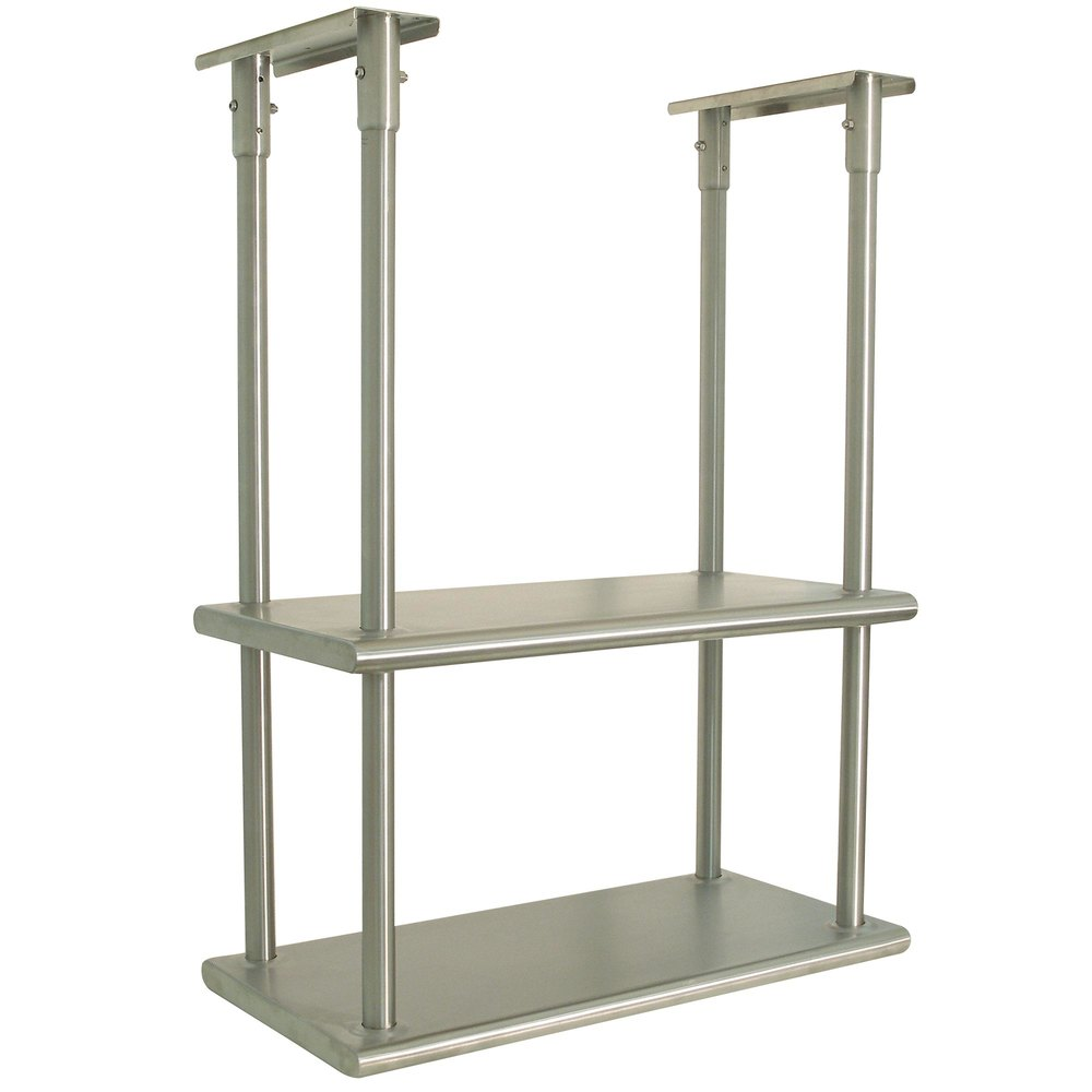 Advance Tabco DCM 18 36 Stainless Steel Ceiling Mounted Double Shelf 18 X 36