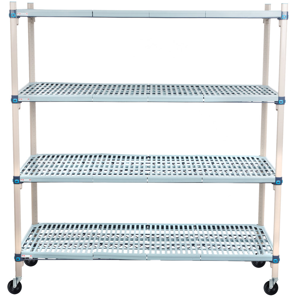 Metro Q566BG3 MetroMax Q Open Grid Shelf Cart with Rubber Casters ...