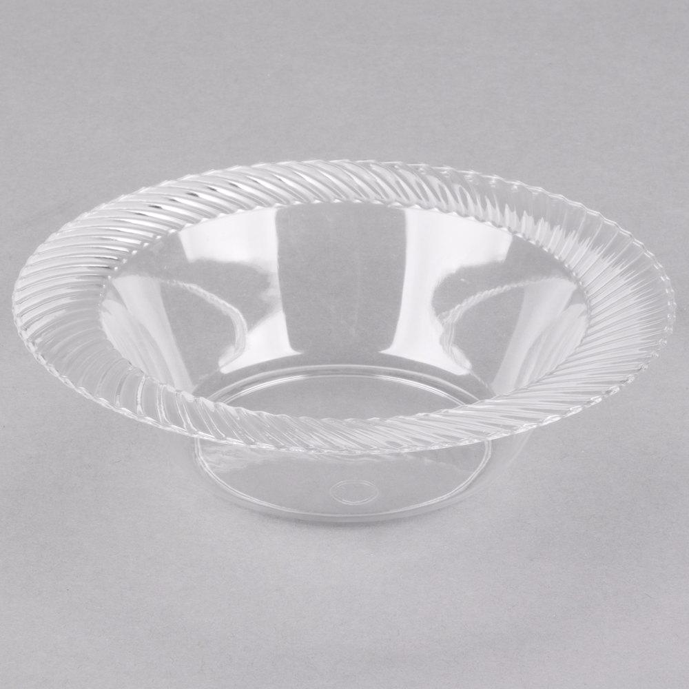 visions wave 6 oz clear plastic bowl 18 pack. Black Bedroom Furniture Sets. Home Design Ideas