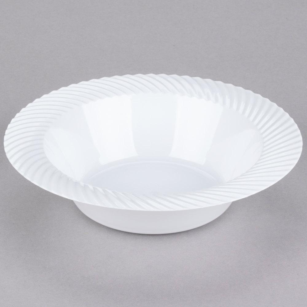 Visions Wave 12 oz. White Plastic Bowl - 180/Case