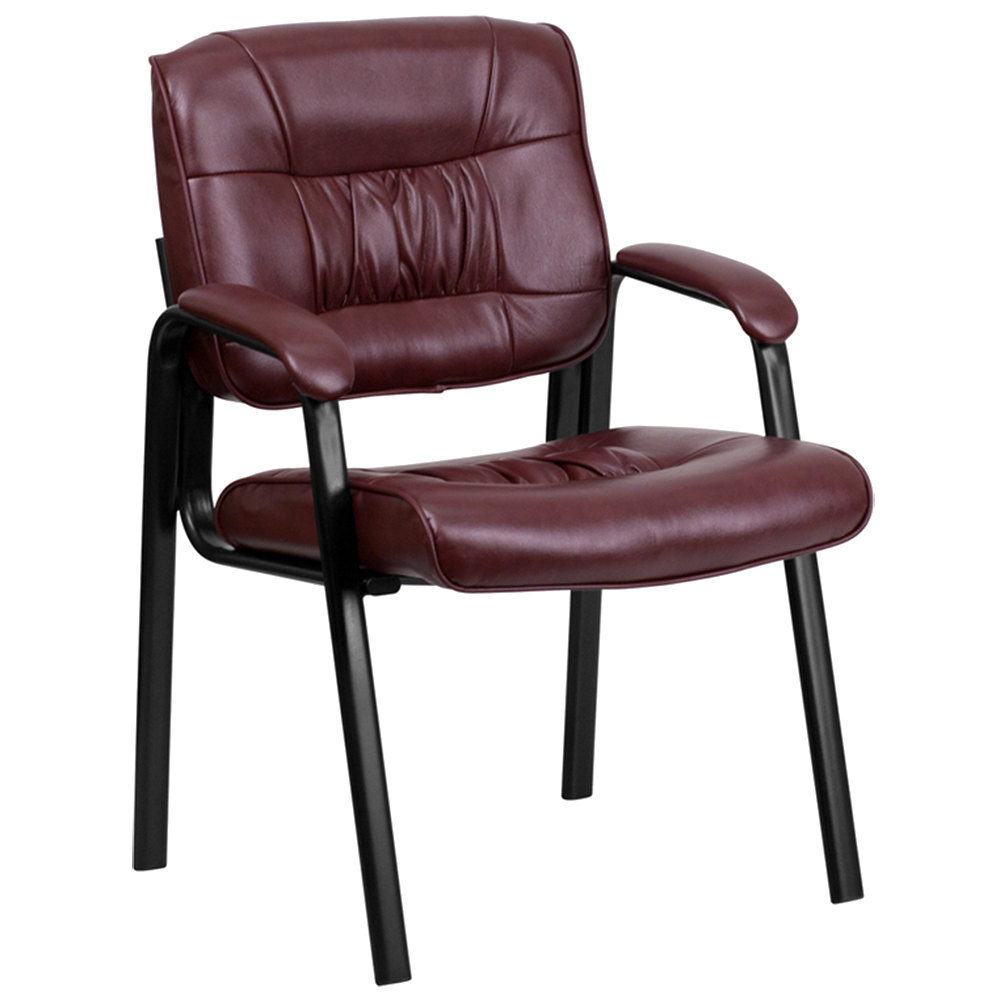 burgundy leather executive side chair with black frame finish. Black Bedroom Furniture Sets. Home Design Ideas