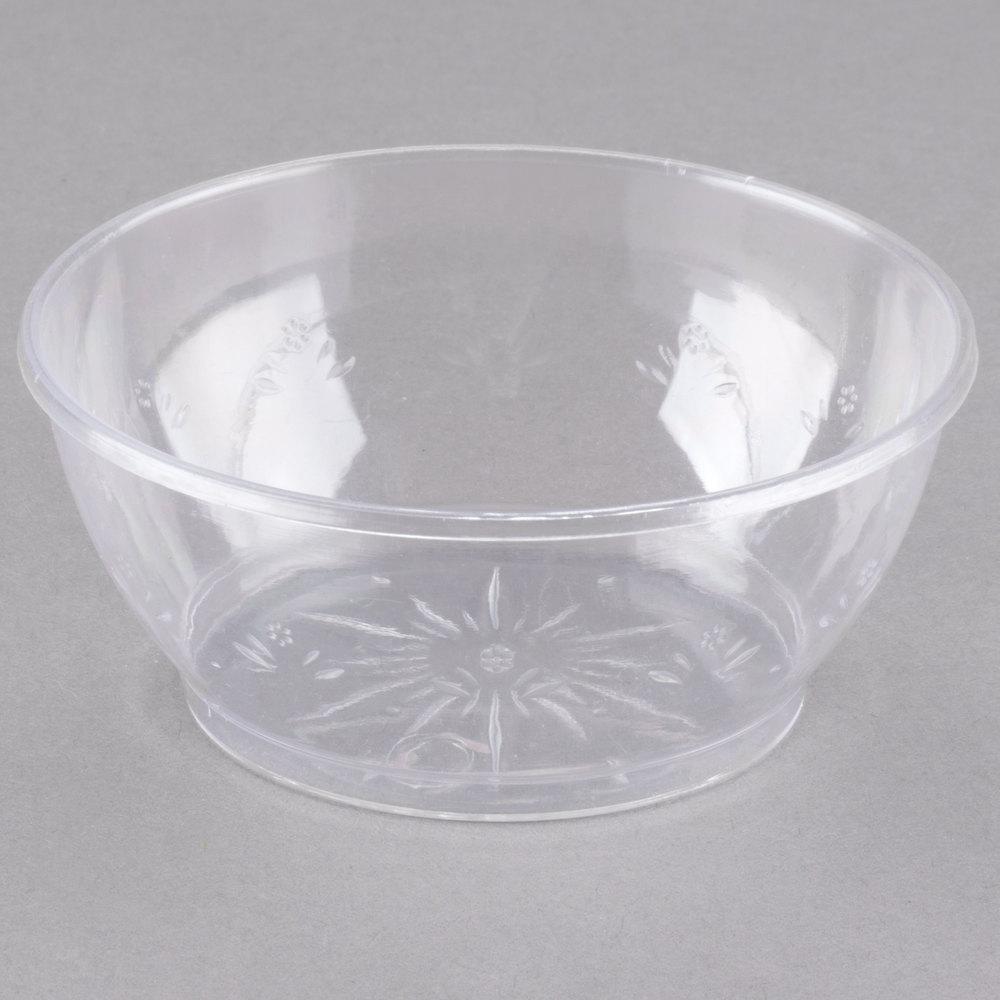 Choice Crystal 6 Oz Clear Plastic Bowl 240 Case
