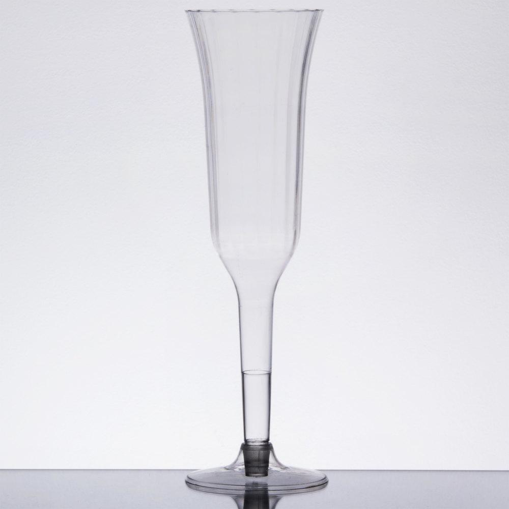 clear 2piece plastic champagne flute 120case