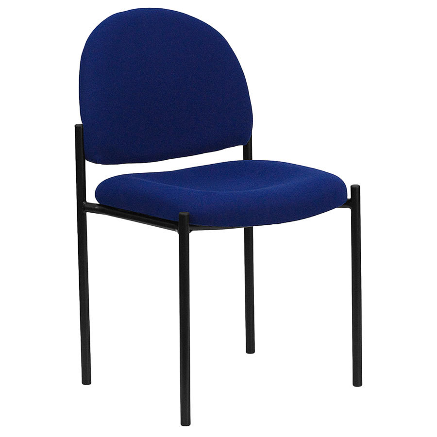 Navy Fabric Stackable Side Chair