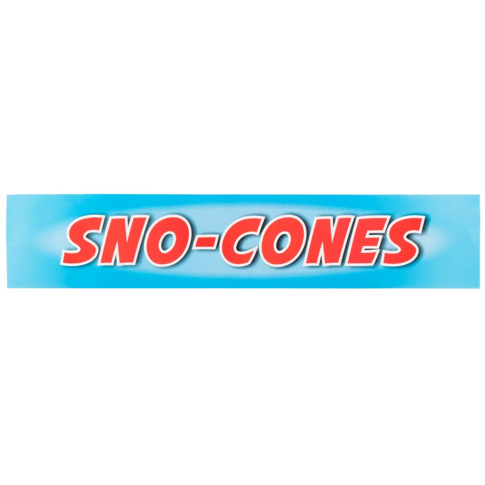Carnival King SCMLABEL Sno-Cones Decal