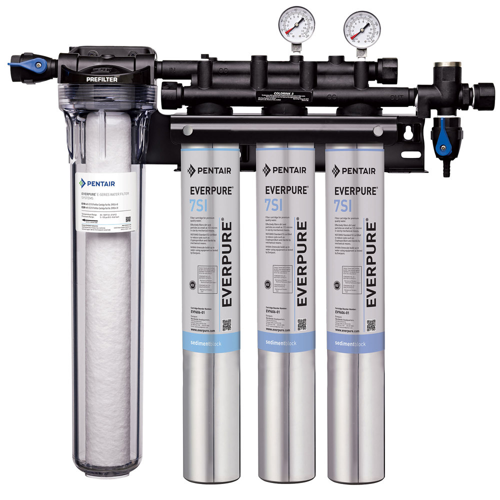 Everpure ev9324 75 insurice triple pf 7si water filtration for Everpure water purification system