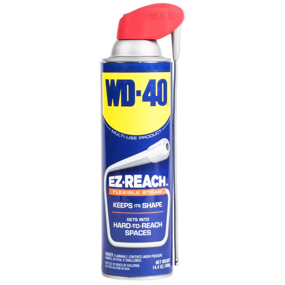 wd 40 490194 14 4 oz ez reach spray lubricant with flexible straw. Black Bedroom Furniture Sets. Home Design Ideas