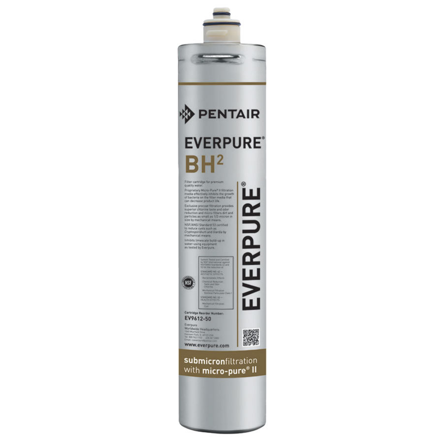 Everpure ev9612 50 bh2 filter cartridge 5 micron and 5 gpm for Pentair everpure water filter