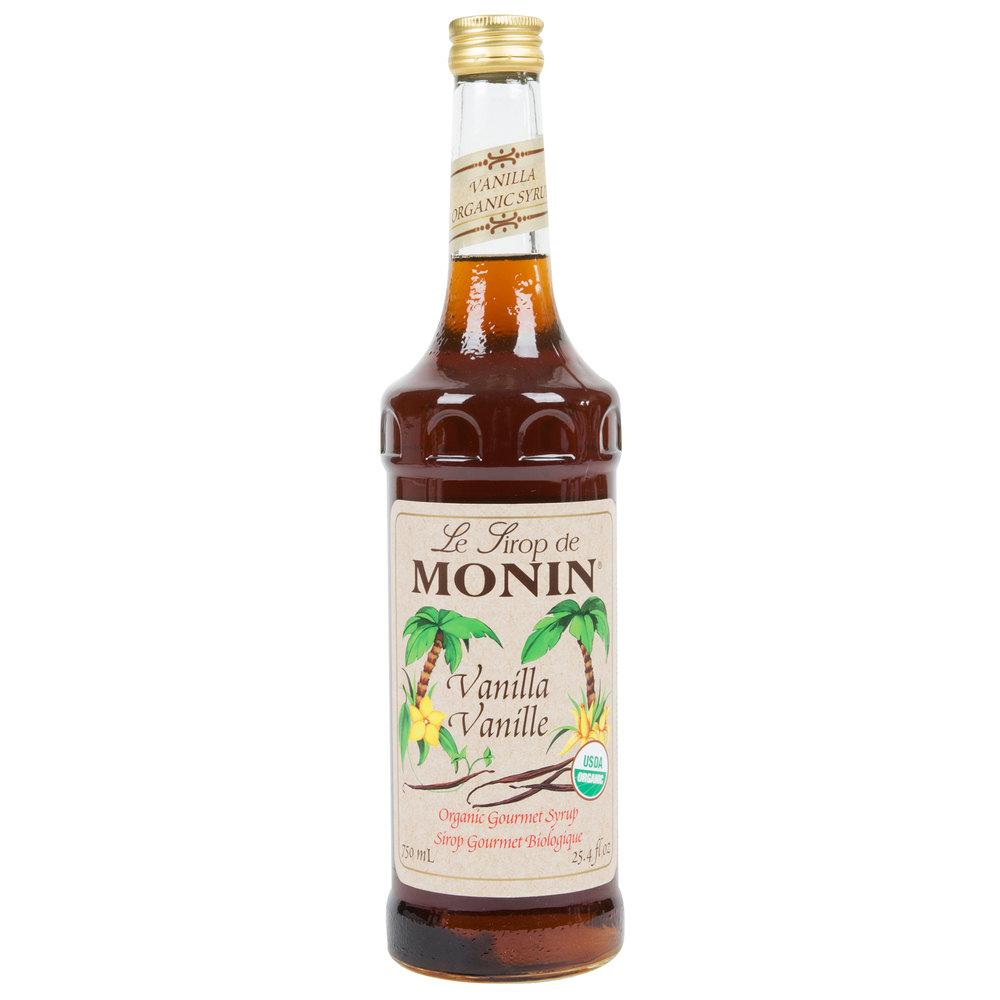 Organic vanilla syrup