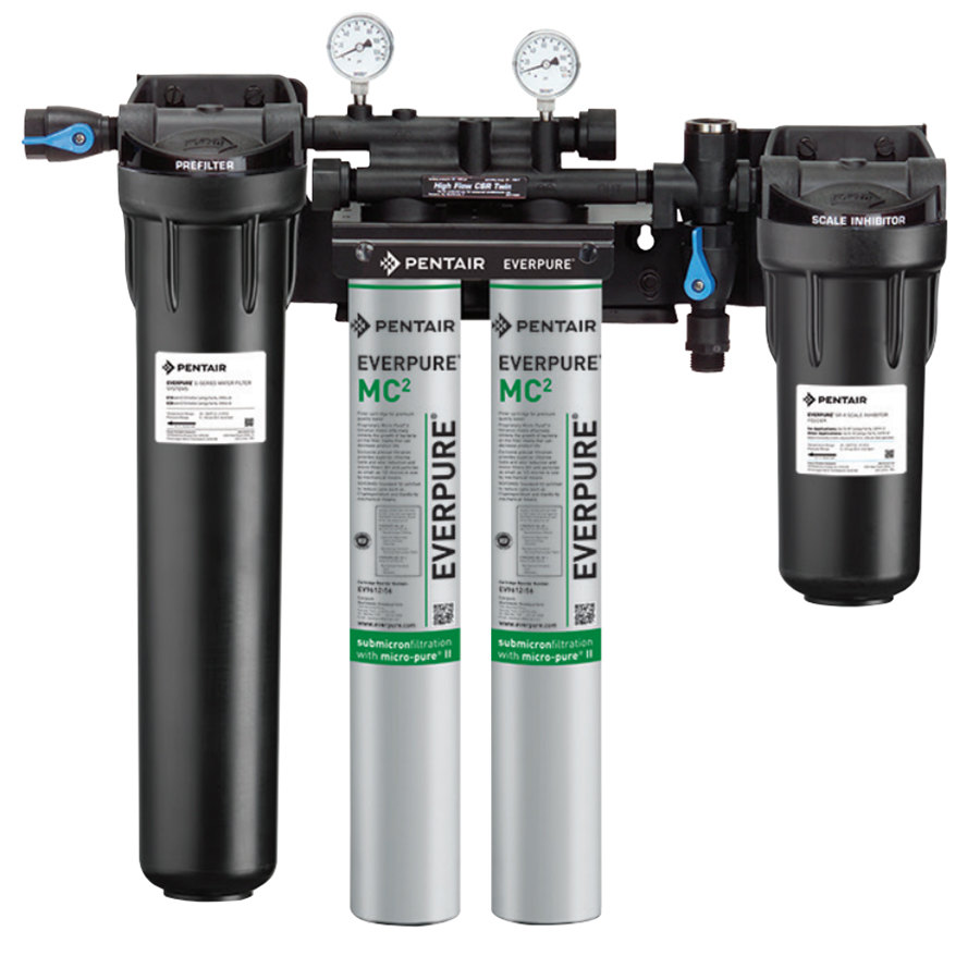 everpure ev933042 high flow csr twinmc2 water filtration system with pre filter 5 micron and - Water Filter