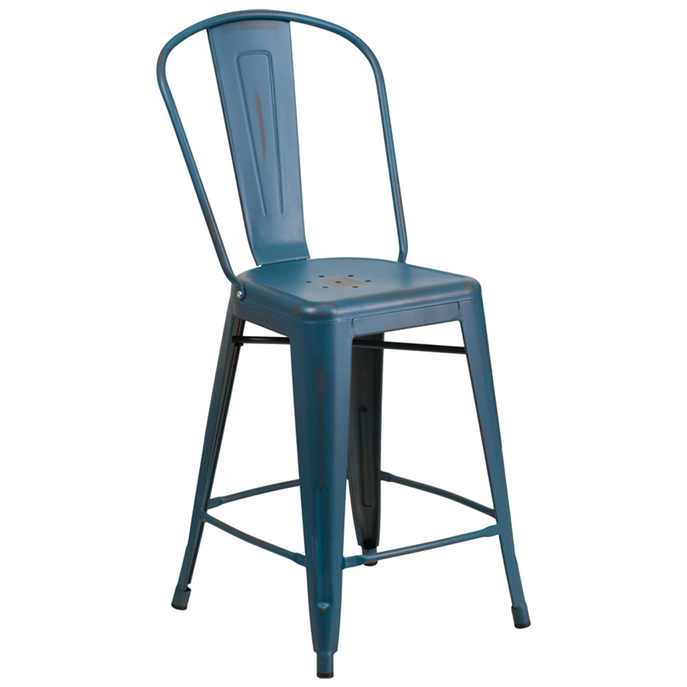 Distressed Kelly Blue Metal Counter Height Stool with  : 788234 from www.webstaurantstore.com size 1000 x 1000 jpeg 42kB