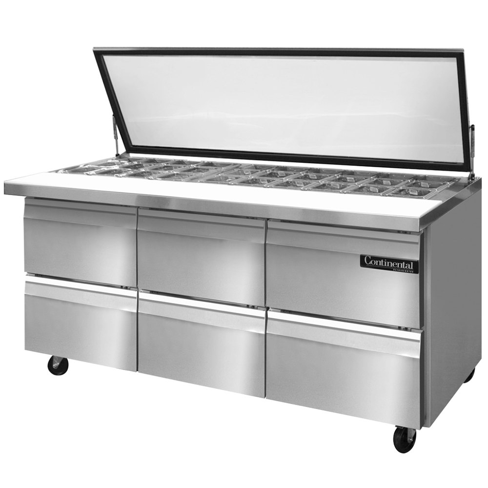Continental Refrigerator Sw72 30m Hgl D 72 Quot 6 Drawer
