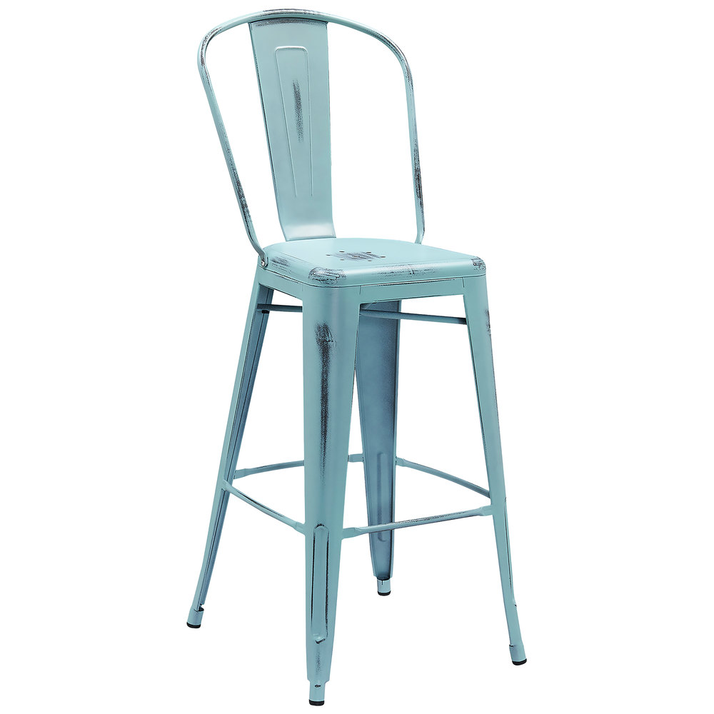 Distressed Dream Blue Metal Bar Height Stool with Vertical  : 789171 from www.webstaurantstore.com size 1000 x 1000 jpeg 67kB