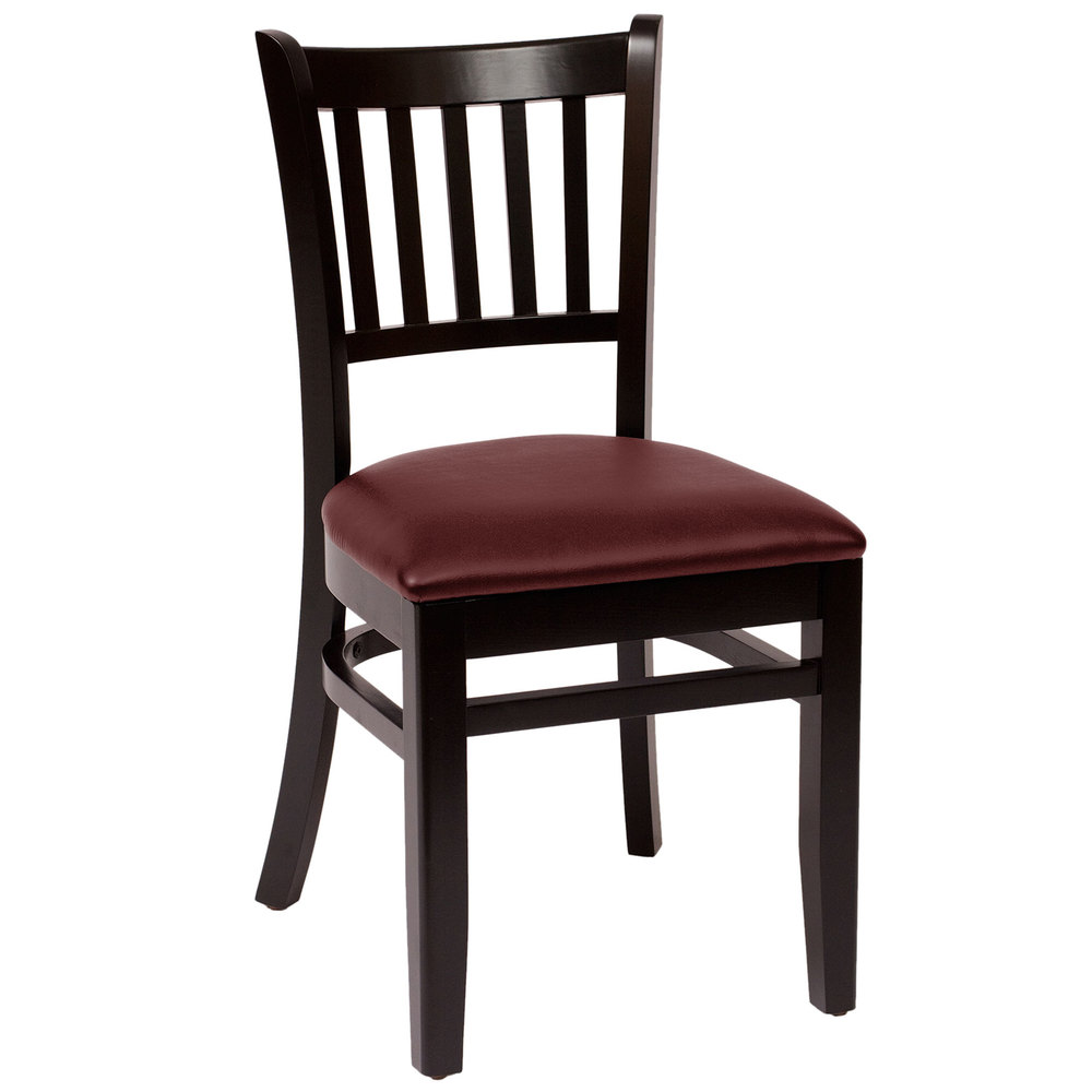 Bfm seating lwc blbuv delran black wood side chair with