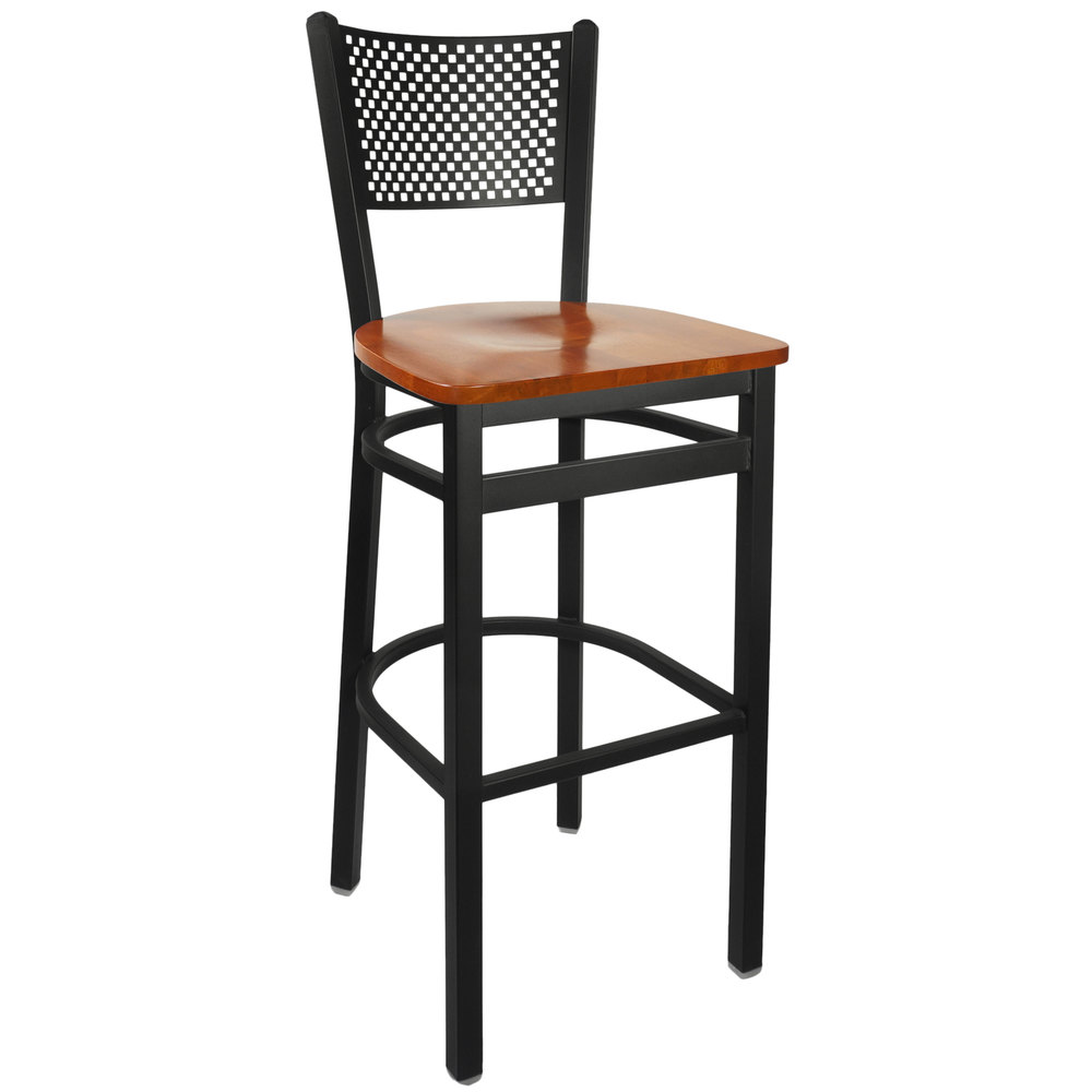 Bfm Seating 2161bchw Sb Polk Sand Black Metal Bar Height