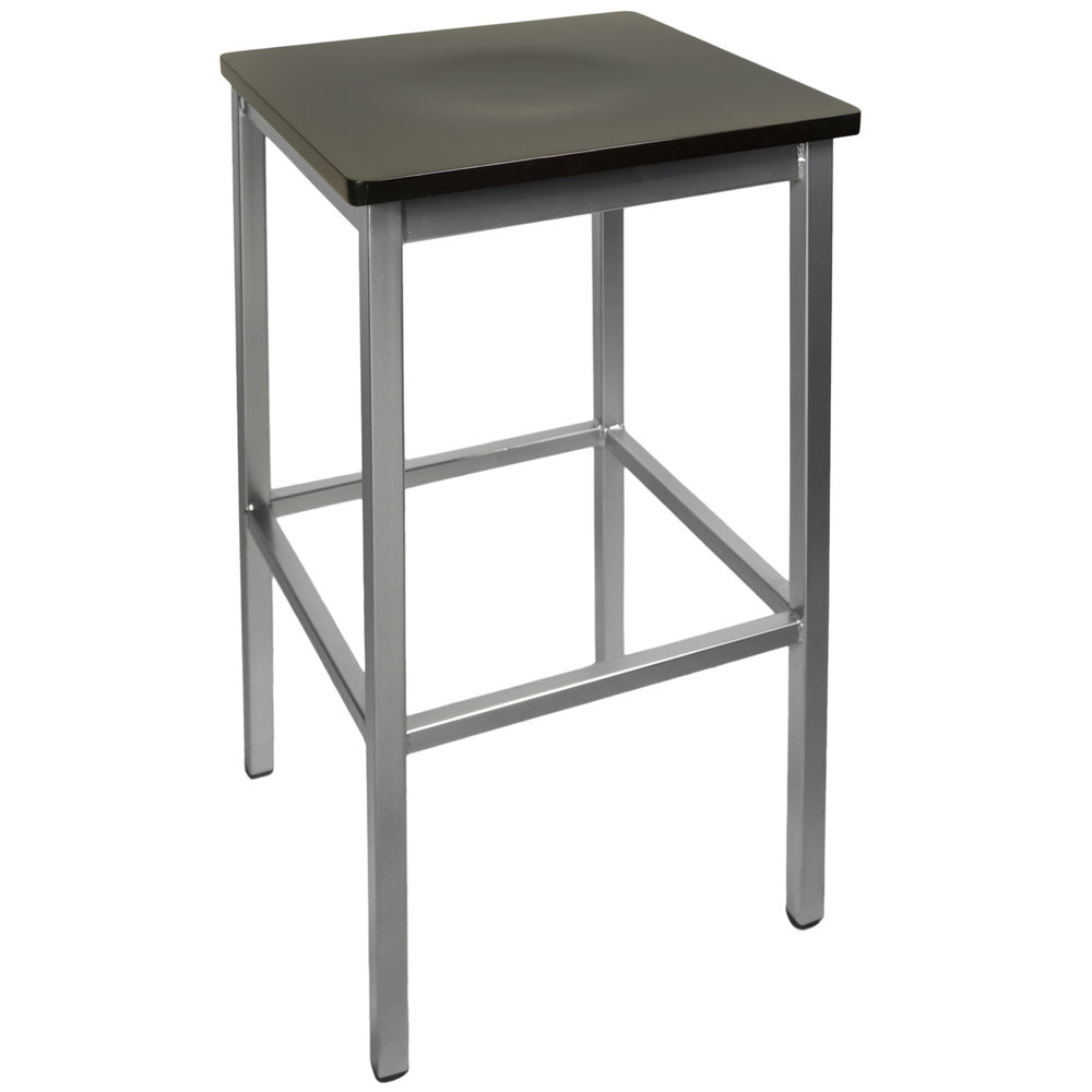 ... Metal Barstool with Black Wood Seat. Main Picture  sc 1 st  Webstaurant Store & BFM Seating 2510BBLW-SV Trent Silver Metal Barstool with Black ... islam-shia.org