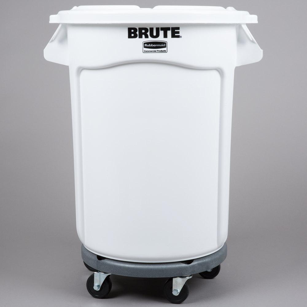 Rubbermaid Brute 32 Gallon White Ingredient Bin Trash