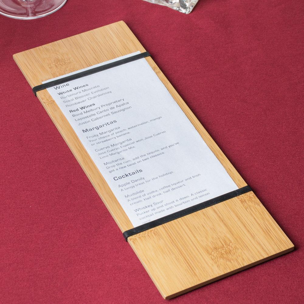 how to set out a menu