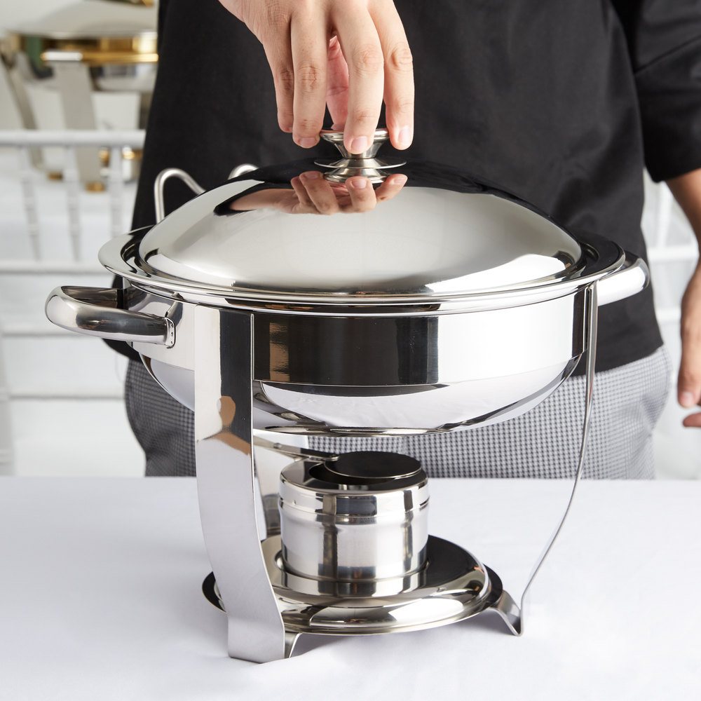 Vollrath 46503 4 Qt. Orion Lift-Off Small Round Chafer