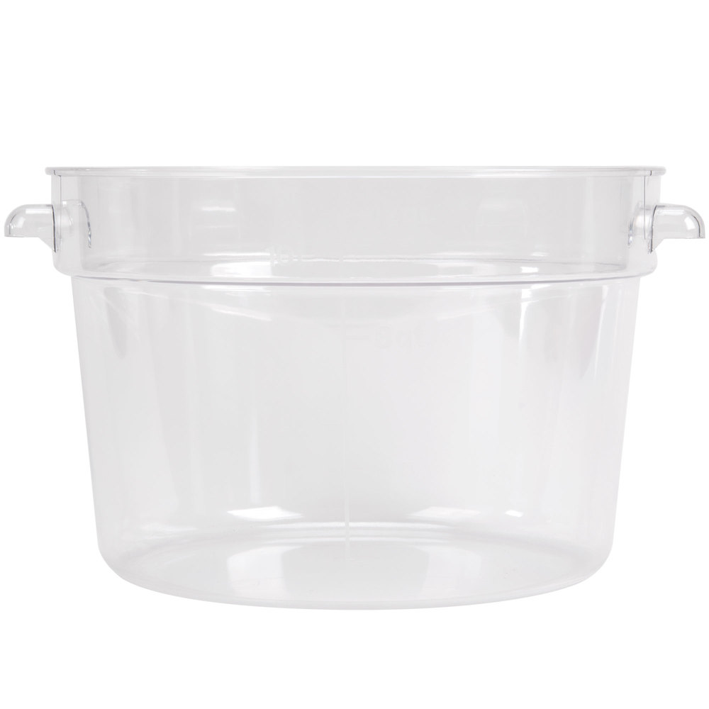 12 qt clear round food storage container. Black Bedroom Furniture Sets. Home Design Ideas