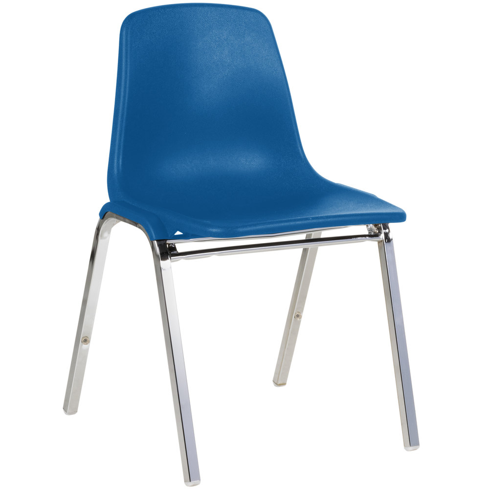 national seating 8125 chrome metal stacking chair