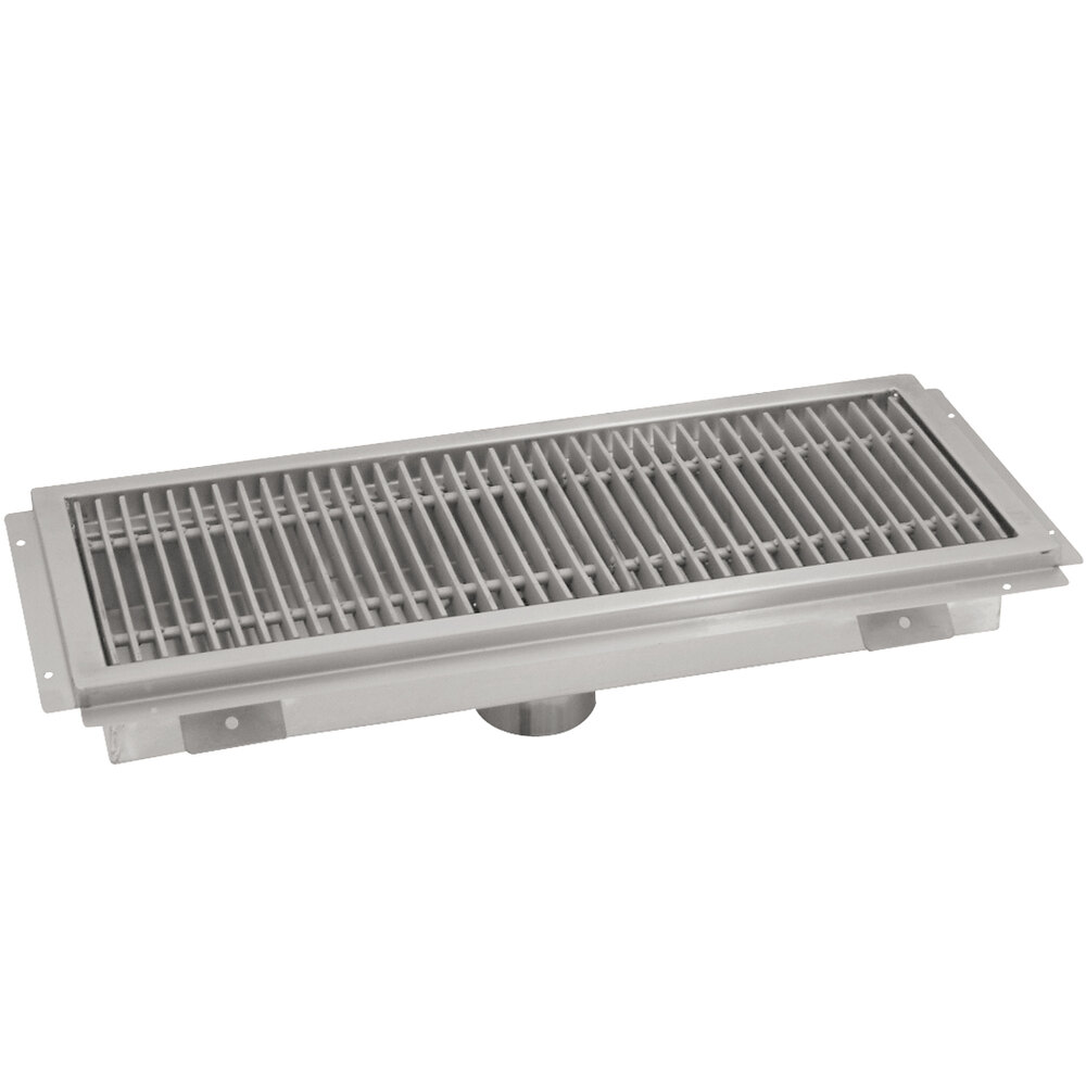 "Advance Tabco FFTG-1242 12"" x 42"" Floor Trough with Fiberglass Grating"