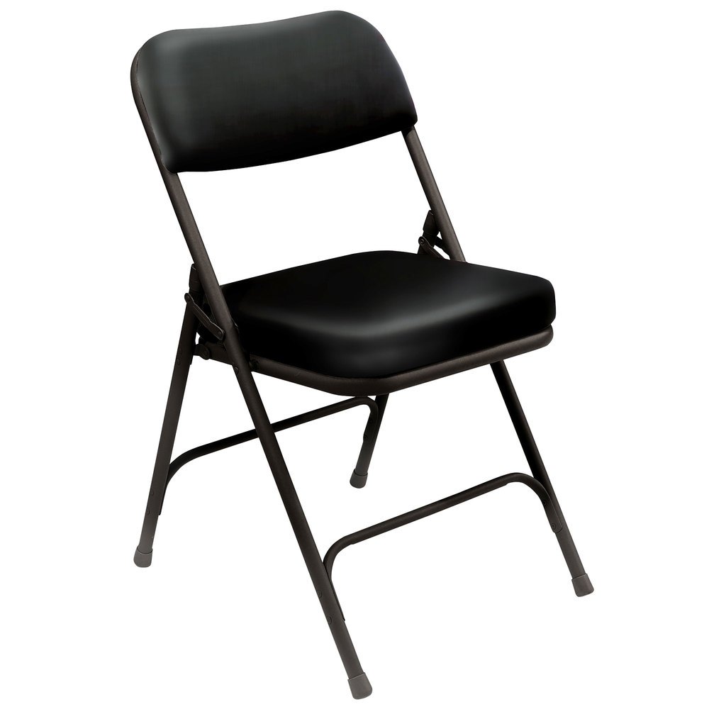 National Public Seating 3210 Black Steel Folding Chair