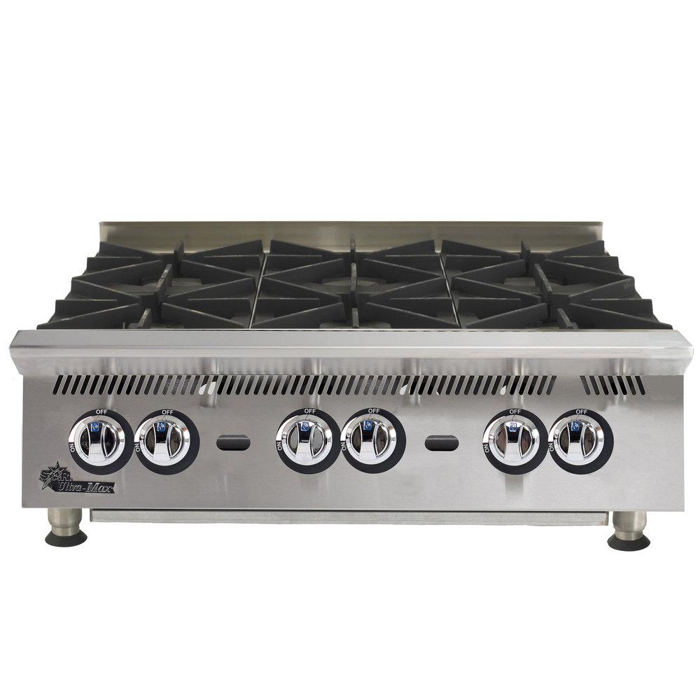 Countertop Stove Propane : Liquid Propane Star 808HA Ultra Max 8 Burner Countertop Range / Hot ...