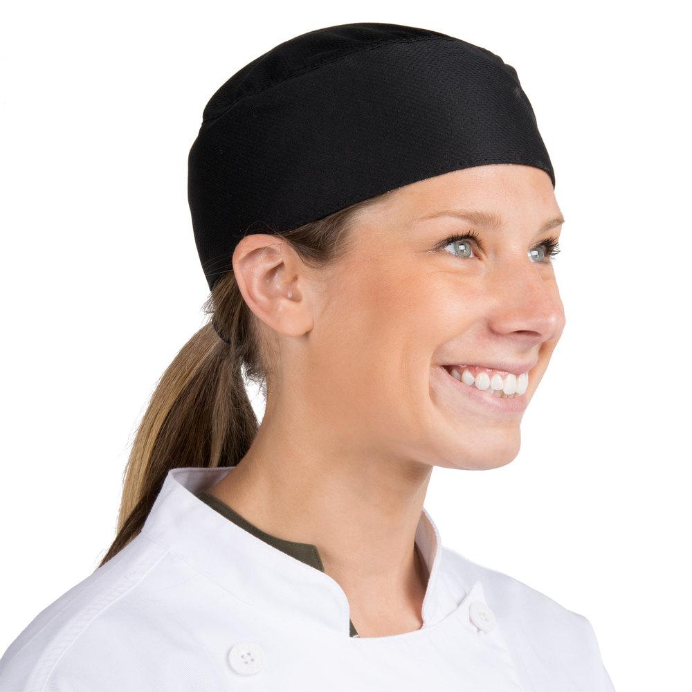 Headsweats 8901 802 Coolchef Black Chef Skull Cap