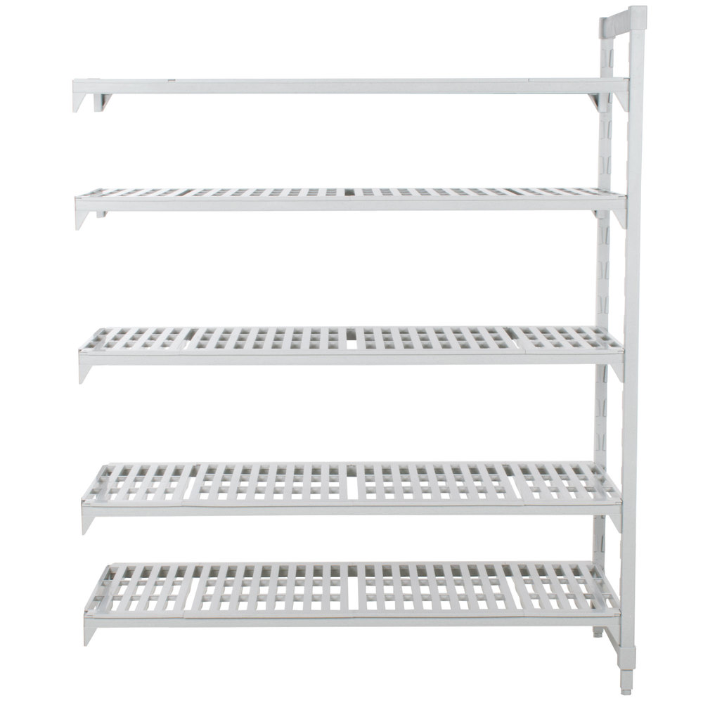 "Cambro CPA243084V5PKG480 Camshelving Premium Vented Add On Unit 24"" x 30"" x 84"" - 5 Shelf"