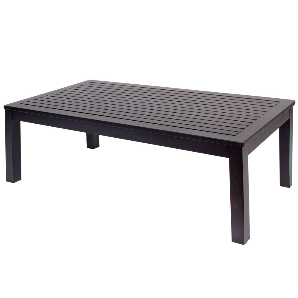 Bfm seating ph6104bl belmar black aluminum coffee table aluminum coffee table main picture geotapseo Gallery