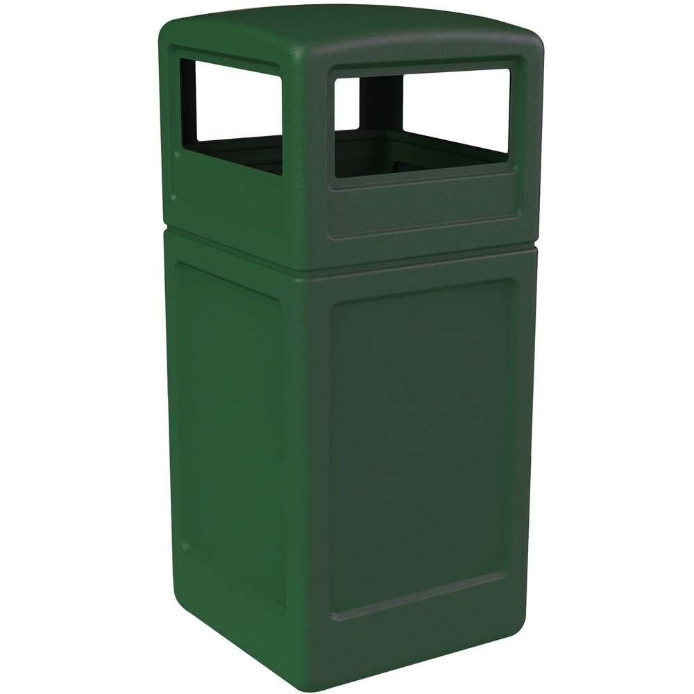 Commercial zone 73295399 polytec 42 gallon green waste container and dome lid set - Garden waste containers ...
