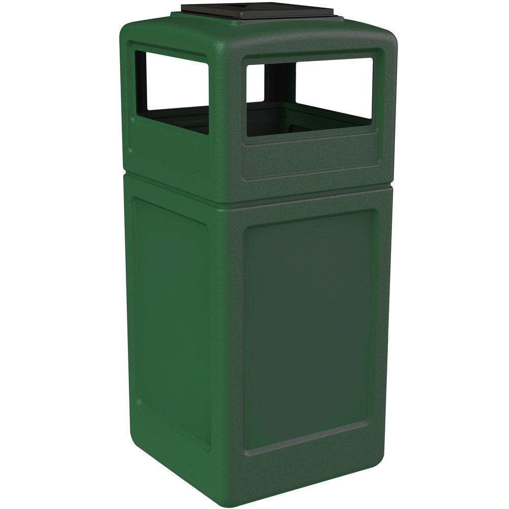 Commercial zone 73305399 polytec 42 gallon green waste container and ashtray dome lid set - Garden waste containers ...