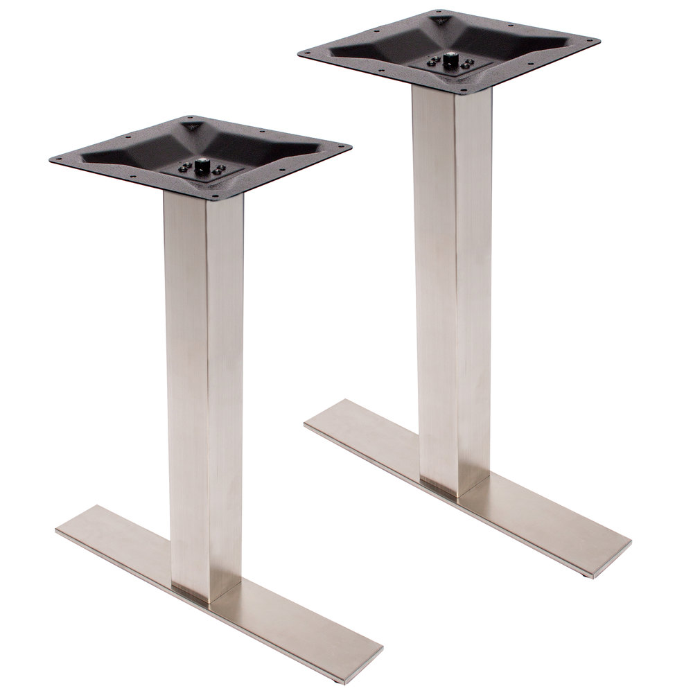 bfm seating phtb0024ss elite stainless steel outdoor indoor standard height end table base set. Black Bedroom Furniture Sets. Home Design Ideas