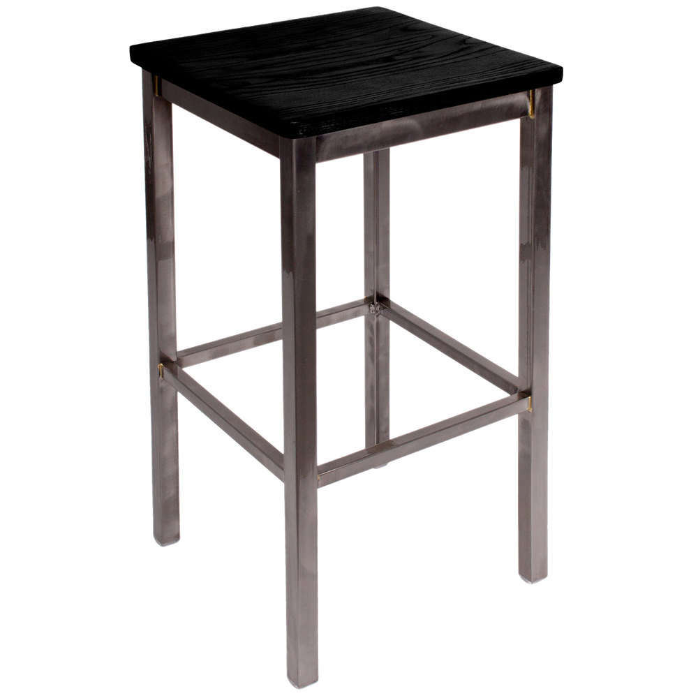 Bfm Seating 2510bblw Cl Trent Clear Coated Steel Bar Stool