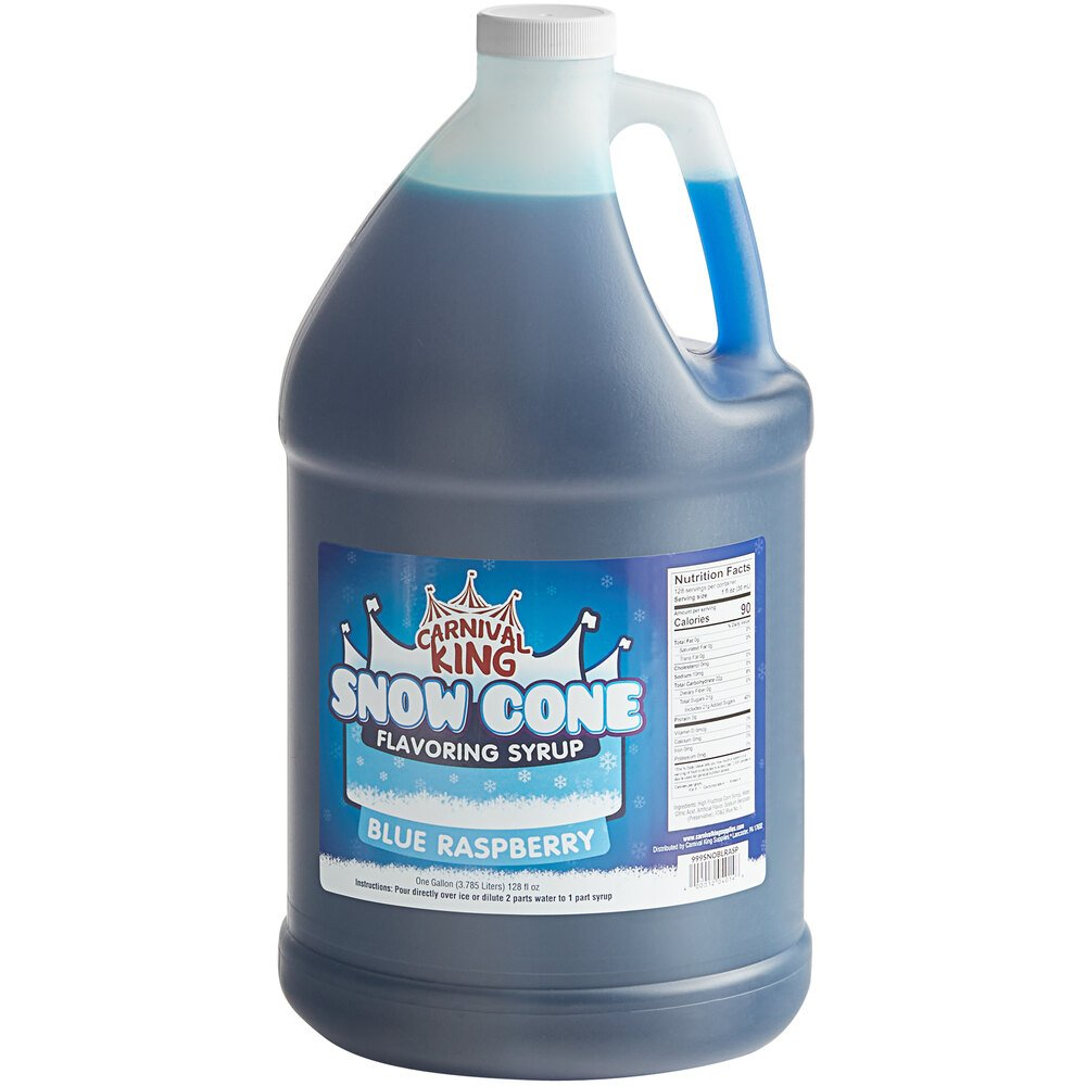Carnival King 1 Gallon Blue Raspberry Snow Cone Syrup