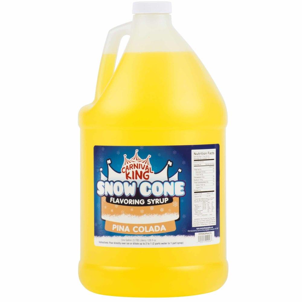 Carnival King 1 Gallon Pina Colada Snow Cone Syrup - 4/Case
