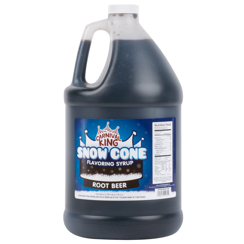 Carnival King 1 Gallon Root Beer Snow Cone Syrup - 4/Case