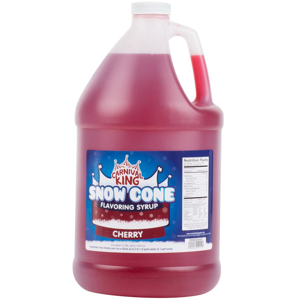 Carnival King 1 Gallon Cherry Snow Cone Syrup   - 4/Case