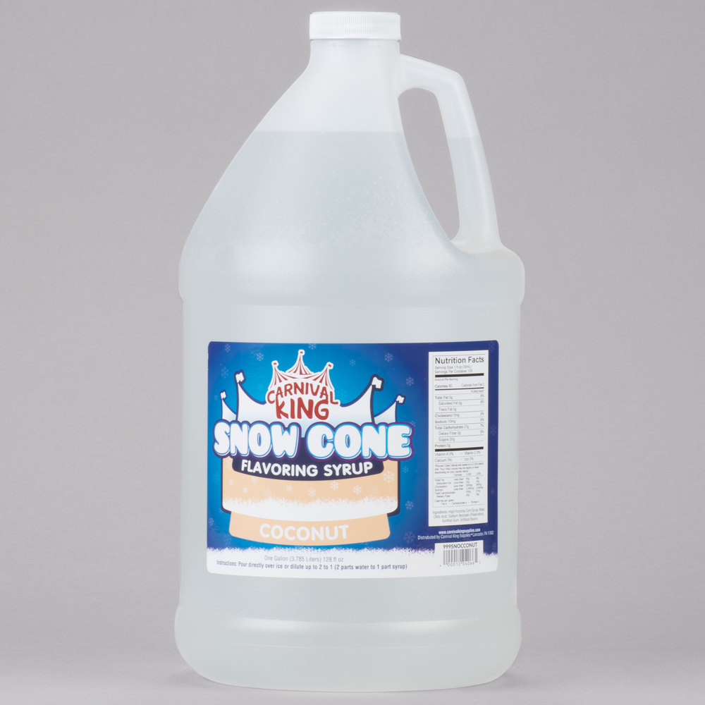 Carnival King 1 Gallon Coconut Snow Cone Syrup - 4/Case