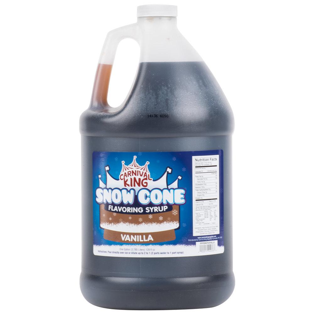 Carnival King 1 Gallon Vanilla Snow Cone Syrup - 4/Case