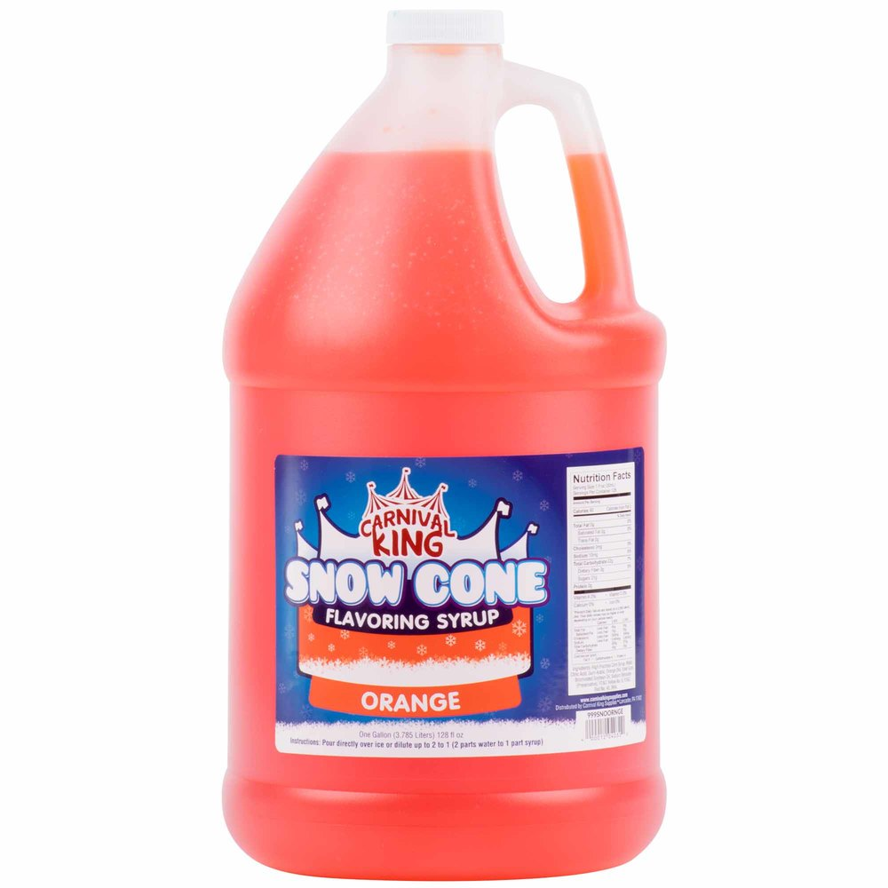 Carnival King 1 Gallon Orange Snow Cone Syrup