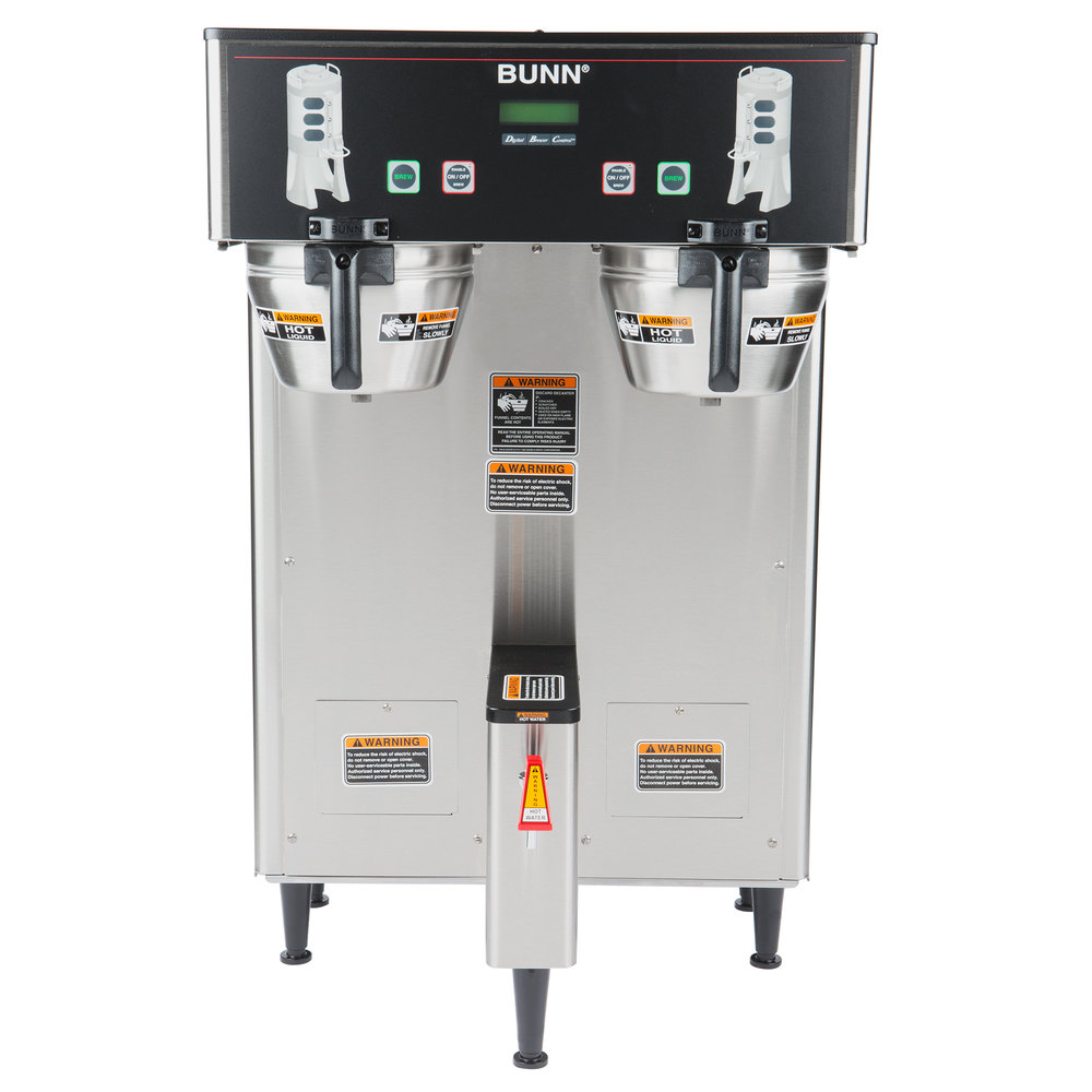 Bunn Coffee Maker Dual Dbc : Bunn 34600.0000 BrewWISE Dual ThermoFresh DBC Brewer with Funnel Lock - 120/240V, 6600W