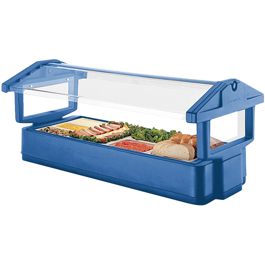 "Cambro 4FBRTT186 51"" x 33"" x 27"" Navy Blue Table Top Food / Salad Bar"