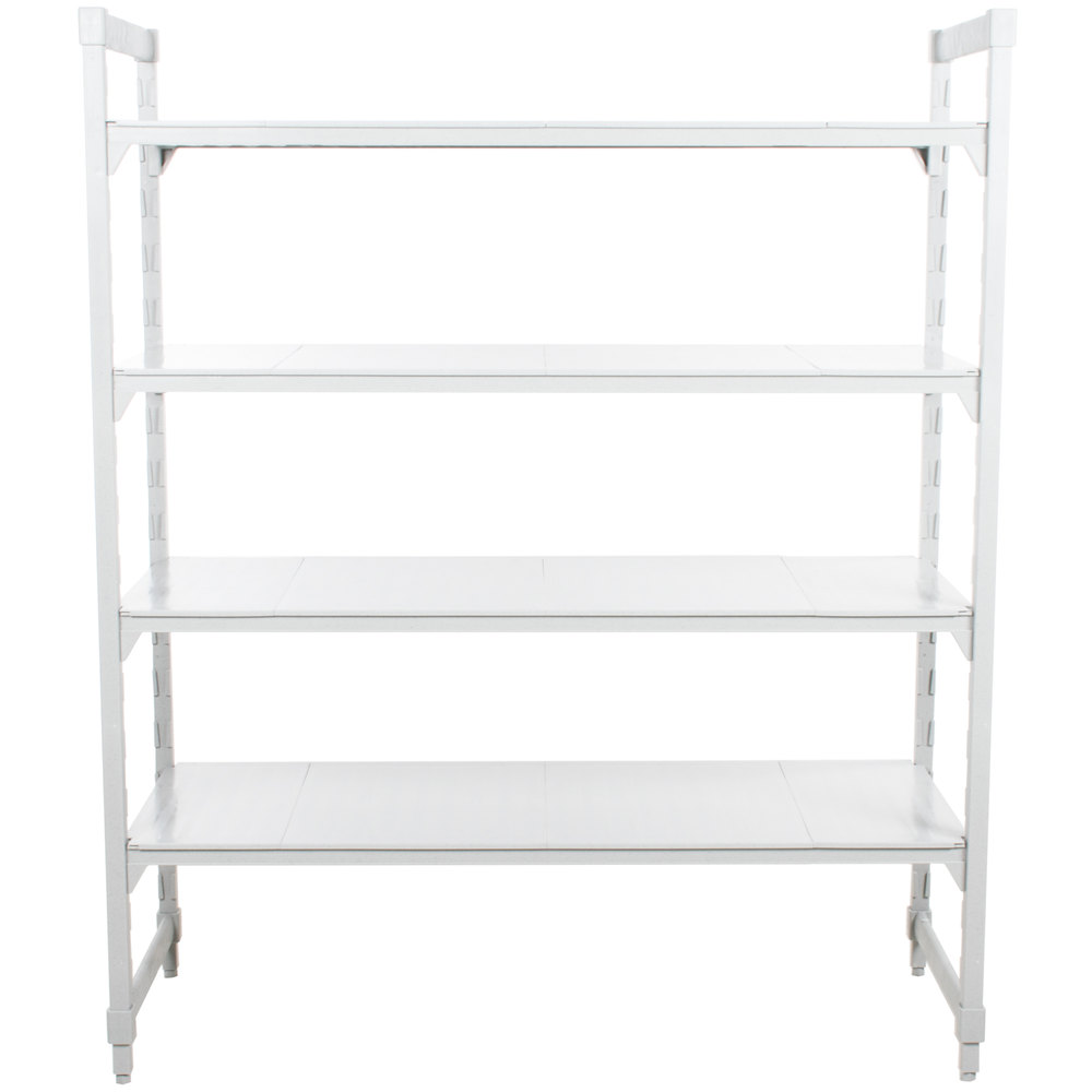 "Cambro CPU214872VS4480 Camshelving Premium Solid 4-Shelf Stationary Starter Unit - 21"" x 48"" x 84"""