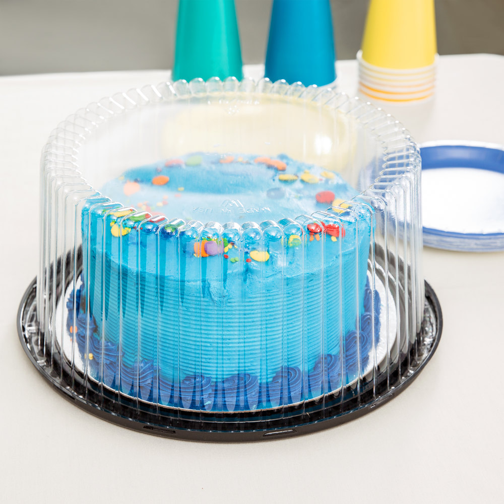 Cake Display Container With Clear Dome Lid